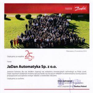 Wyróżnienie dla firmy JADAN